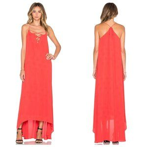 NWT Revolve Line + Dot Coral Lace Up Maxi Dress